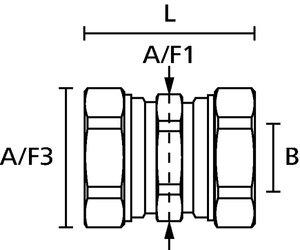 HelaGuard LTS-LTS Compression Coupler.