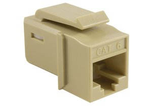 Category 6 UTP Jack in Ivory