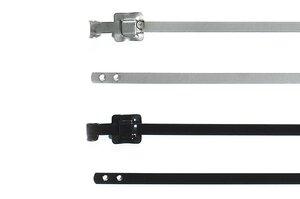 MLT-serie hersluitbare RVS-bundelbanden, met en zonder coating.