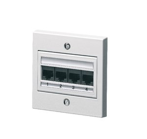 Global 4 Port Category 6 Outlet