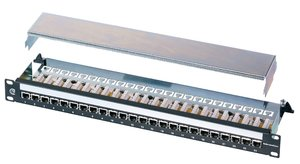 1U 24 Port Shielded Category 5e EcoBand Panel
