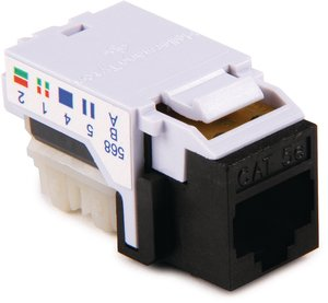 Category 5e Keystone Jacks are available in 12 colours