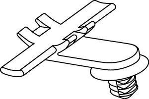 Clip COW assemblé avec un colliers de serrage