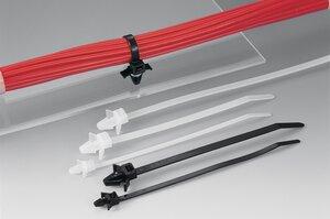 Bevestigingsbanden met spreidanker zijn geschikt voor diverse plaatdiktes en gatdiameters.