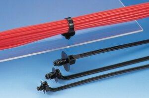 Die Kabelbinder T50SDP6 und REL30SDP6 sind für große Blechdicken bis 7,0 mm einsetzbar.