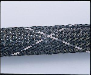 Helagaine HEGPV0X flame-retardant braided sleeving.