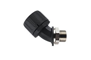 HelaGuard HG-45M 45° Elbow Swivel External Thread, IP66.