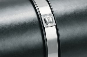 MLT-Series. Releasable stainless steel buckle tie with and without coating.