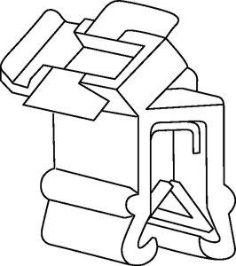 Large gamme de clips pour bords de tôle disponible, offrant la possibilité de venir ajouter ou retirer des câbles après installation.