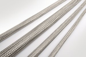 HEGEMIP-VG braided sleeving with VG approval for defence applications.