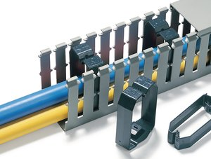 CL Wire securing clamps.
