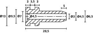 Passe-fils anti-pliure - HV2104.