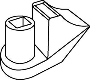 SBH2 可使电缆与面板成 90° 角。