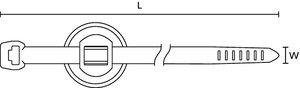 Die zusätzliche Dichtung des 2-teiligen Befestigungsbinders schützt verlässlich vor Spritzwasser.