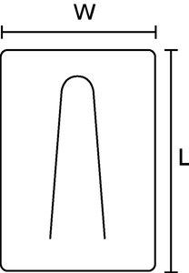 A lingueta dobrável permite amarração de diversos tamanhos por clip.