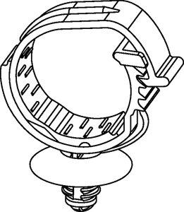 Familia de Clips de Cableado Automáticos para agujeros ovales.