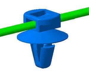 Durch die verschiebbaren Fußteile sind diese Befestigungsbinder sehr flexiblel einsetzbar.