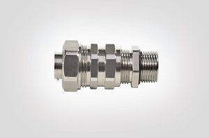 LTS-SCG Compression Fitting with Strain Relief and Cable Seal.
