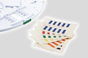 Adhesive Tray Markers