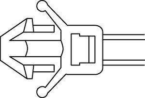 适用于不同板厚和孔径的各种箭头固定件。