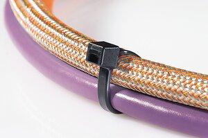 Black and natural cable ties, LK-Series.