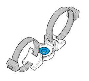 Embase à visser de la série DHDM - Idéale pour un routage en parallèle des câbles.