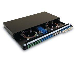 1U LC Duplex Multimode Fibre Panel (also available with LC Duplex, LC Quad, SC Simplex or SC Duplex adaptors)