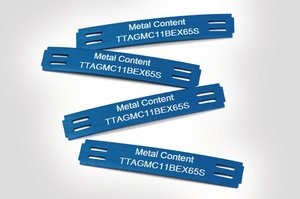 Metal content identification tags TIPTAG MC for a safe and clean production process.