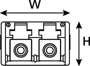 LC Multimode Duplex Adaptor