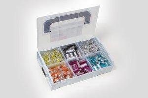 Sortimentlåda Variobox med Push-in-klämma HCPM 350st.