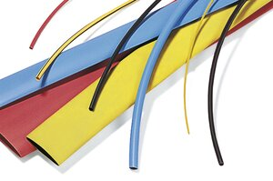 Polyolefin heat shrink tubing resists most common oils, chemicals and fluids.