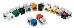Category 6 Keystone Jacks - 12 different colours available