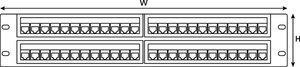 1U 48 Port Category 5e Panel