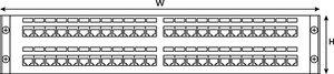 2U 48 Port Category 6 Panel