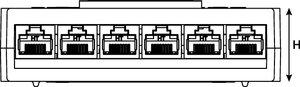 RapidNet 6 Port Cassette to Bare End