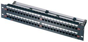 2U 48 Port Category 5e Panel
