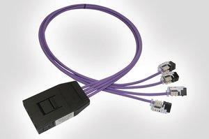 RapidNet 4 Port Cassette to Keystone Jack