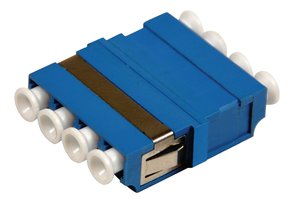 4-Port Quad LC Single Mode Adapter, compatible with HellermannTyton Fibre Panels