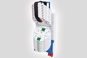Unloaded Integrated Routing Module suitable for 24 SE or 48 SC Splice Trays.
