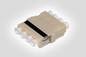 4-Port Quad LC Multimode Adapter, compatible with HellermannTyton Fibre Panels