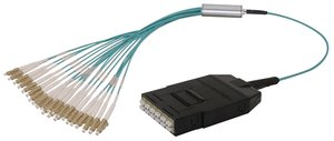 RapidNet 24核心LC盒式磁带到LC风扇