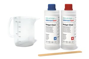 RELICON Religel Clear, Transparent and heat-resistant two-component silicone gel.