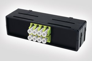 8 Port LC Fibre Adaptor Mounting Module