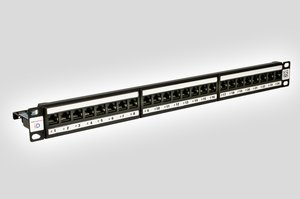 The iD Acive Panel provides 24 ports in 1U with LED indicators