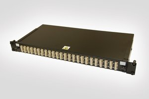1U SC Duplex Multimode Fibre Panel (available in both Single Mode and Multimode)