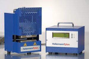 Värmekrympverktyg ShrinkPad 110 - kontrollpanel, krymppress, strömkabel, fotpedal.