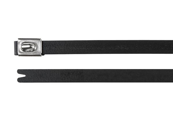 Kabelbinder mit Kugelverschluss und Kunststoffbeschichtung MBT5SFC ...