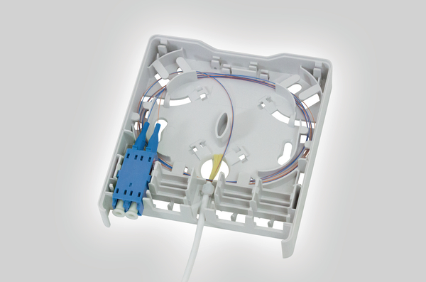 Fibre Wall Outlet With Pre Terminated Internal Connecting Cable Fwoa Lxw22 010 Wh 857 01417 Hellermanntyton