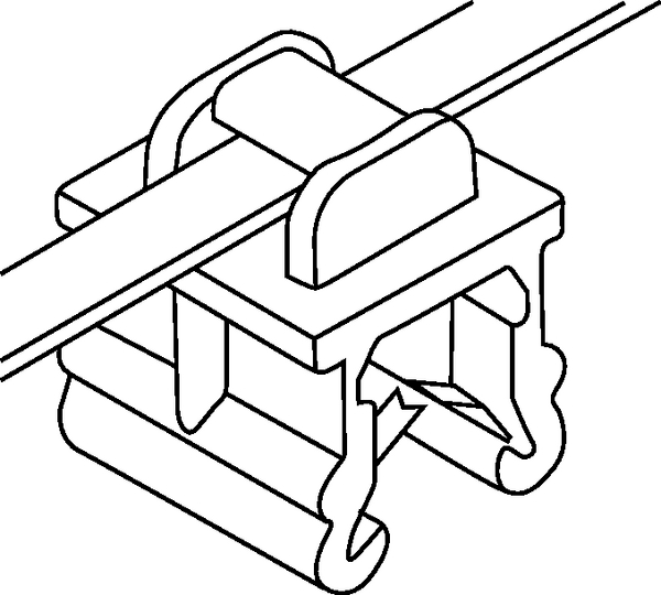 2 Piece Fixing Ties For Edges 30
