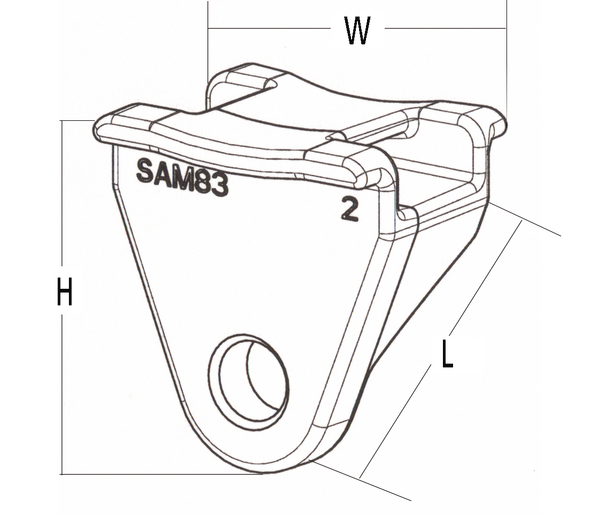 harness clip for heavy duty applications  for screws or